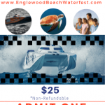 Englewood Beach Waterfest 2019 Event Ticket Preview - showing race boat