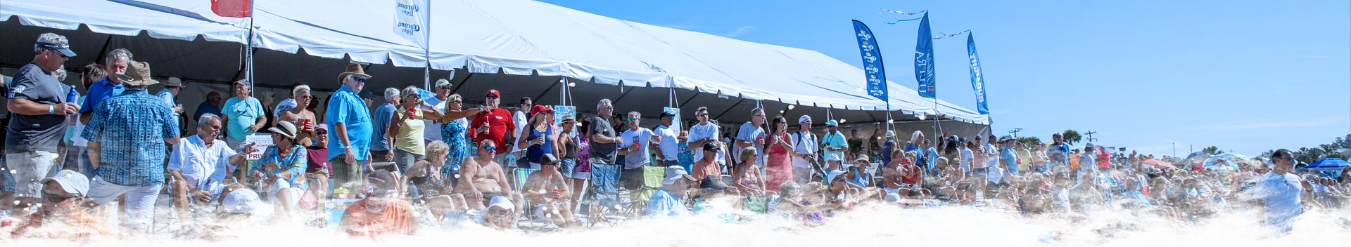 VIP Tent at the 2019 Englewood Beach Waterfest