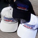 Englewood Beach Waterfest Hats in colors white, black and stone