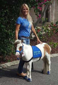 Kathy and Hope (Therapy Horse)