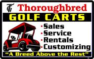 Thoroughbred Golf Carts Sales Service Rentals Customizations logo
