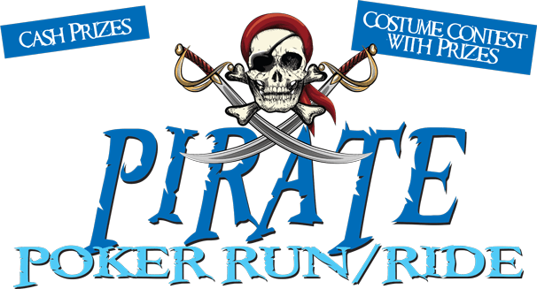 Pirate Poker Run/Ride logo - Cash Prizes, Costume Contest With Prizes