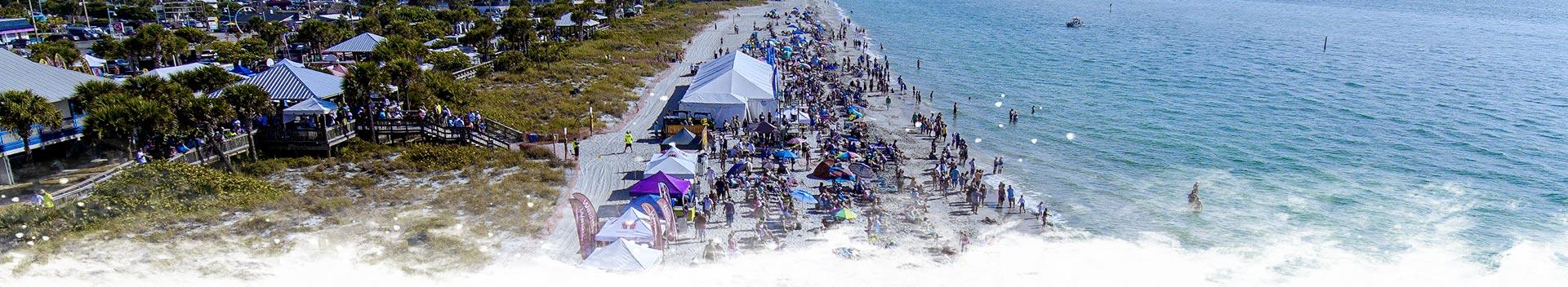 Aerial photo of Englewood Beach Waterfest